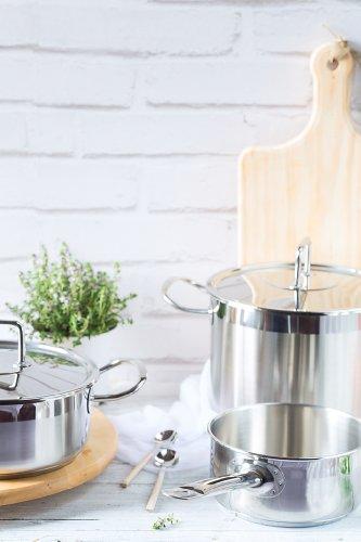 Braisogona Professional Stainless Steel Stew Pot, 30 cm