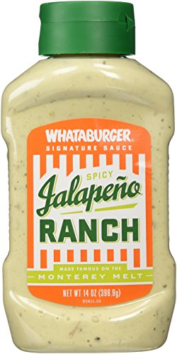 Jalapeno Spicy Ranch, Whataburger, 14.5 OZ., (Pack of 2)
