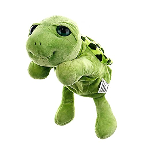 Berrywho Turtle Hand Puppet, Tortuga Puppet Dibujos Animados, Tortuga Peluche Toys Guantes de títeres interactivos para Historia Decirle Accesorios Puppet de Mano Interactivo, Verde 30 cm