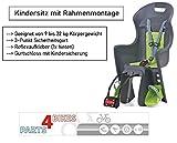 P4B   Fahrradkindersitz BOODIE FF   3-Punkt-Gurtsystem mit Kindersicherung   Ergonomisch geformt...