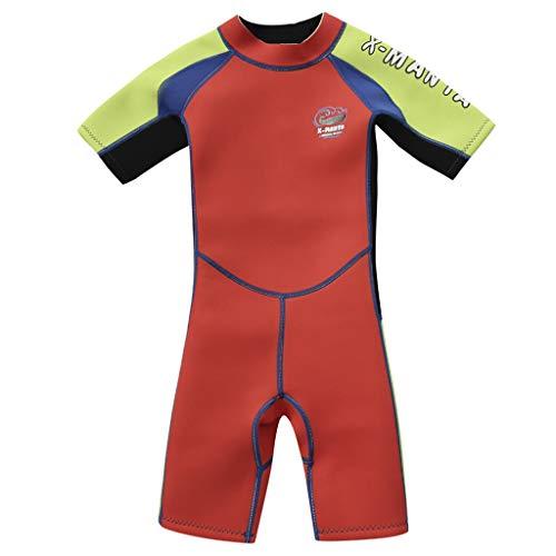 Gogokids Kinder Shorty Neoprenanzug 2.5mm Neopren Mädchen Jungen UV-Schutz Schwimmanzug 2-10 Jahre