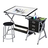 YAHEETECH Drawing Drafting Table Craft Versatile Desk Tabletop Tilted...