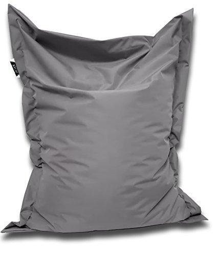 Patchhome Sitzsack und Sitzkissen Eckig - Anthrazit - 100x70cm in 25 Farben und 7 versch. Größen