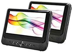 sylvania 9 dual screen portable dvd player black
