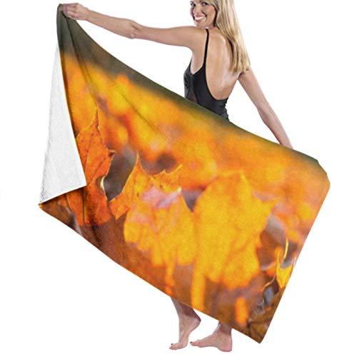 Toalla de playa de microfibra, el sol de otoño brilla a través del follaje durante las toallas de baño Toallas de viaje ligeras de secado rápido Toalla de baño de playa ultra absorbente Toallas de ba