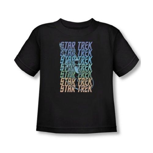 Star Trek - - T-shirt multi Logo Enterprise In Black, 2T, Black