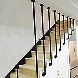 Barandilla de Escalera de Tubo en Forma de L de Hierro Forjado, barandilla de Tubo galvanizado Negro, envíenos los Datos precisos del tamaño después de la Compra (cantidad: 1)