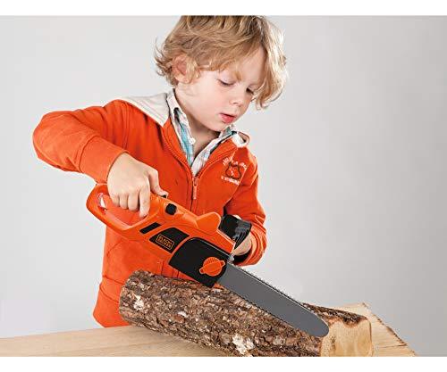 Smoby - BLACK+DECKER - Tronçonneuse - Jouet Bricolage Enfant - Piles Incluses - 360103