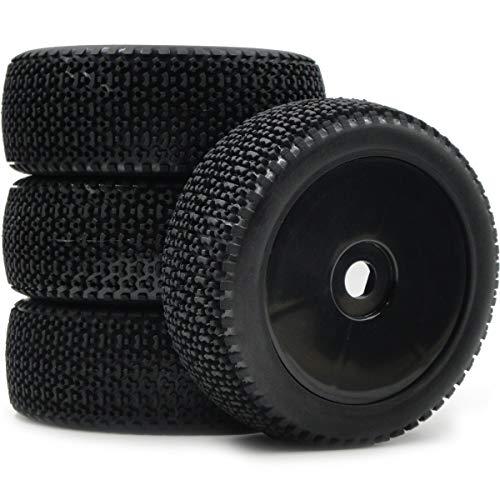 hobbysoul 4Stk RC Buggy Off Road Reifen & Felgen Rad Hex 17mm für 1:8 RC Fahrzeug Modell