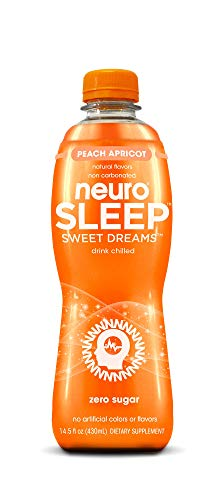 neuroSLEEP | Peach Apricot | Functional Beverage for Restful Sleep, Non-Carbonated, Vegan & Zero Sugar; Pack of 12 (14.5oz each)