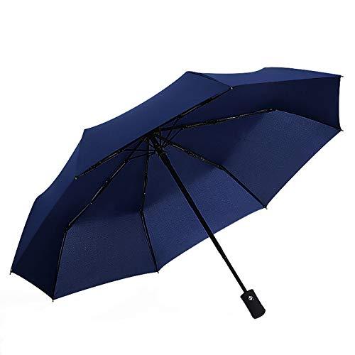 Reise Regenschirm, automatisches Öffnen/Schließen, Winddicht, Anti-UV-Regen/Sonne, Faltbarer Regenschirm, für Damen, wasserdicht (Blau)