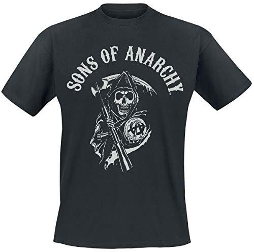 Sons of Anarchy Reaper Logo Hombre Camiseta Negro XL, 100%...