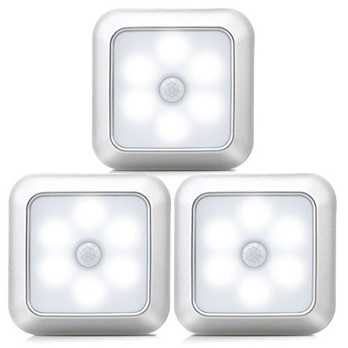 Dmyond 6LED Motion Sensor Closet Light Wireless Night Wall Cabinet Battery Power Indoor,White Light