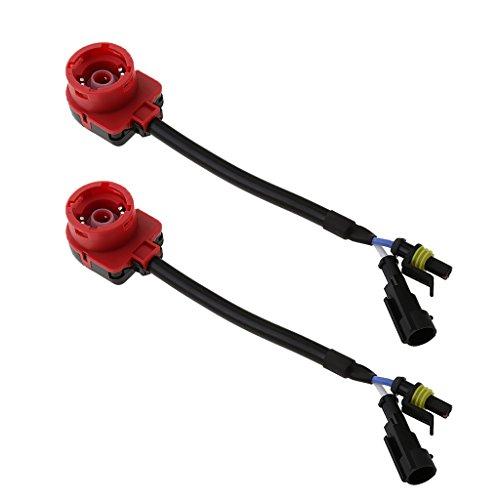 MagiDeal 2X D2S D2R D2C HID Convertisseur Câble Faisceau Adaptateur Socket