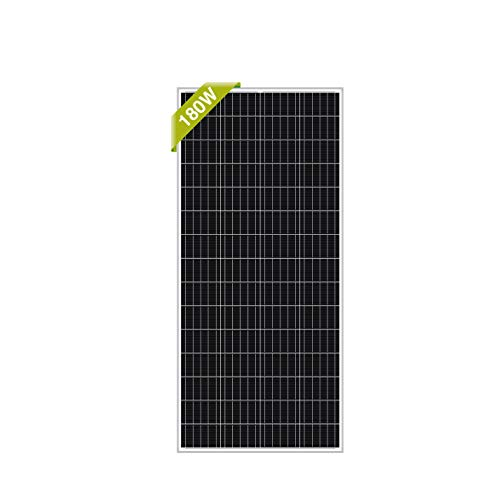 Newpowa 180W RV Solar Panel 180 Watt 12V Monocrystalline High Efficiency Mono Module Marine Boat Off Grid