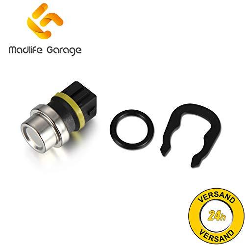Madlife Garage 6U0919501B Kühlmittel Temperaturfühler Sensor mit Dichtung Ibiza II Inca Felicia I Octavia Caddy II Kasten Golf III IV Passat Polo