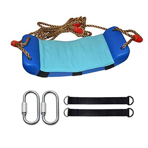 zxb-shop Columpios Silla portátil de Juguete para niños con Columpio al Aire Libre con cojín Caliente Marco de Puerta Interior Solo Columpio ( Color : Blue )
