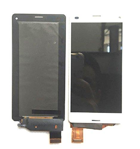 ソニー Sony Xperia Z3 Compact 修理用 フロントパネル 液晶パネルセット Kayyoo フロントガラスデジタイザ タッチパネル 粘着テープ+修理工具付き (ホワイト)