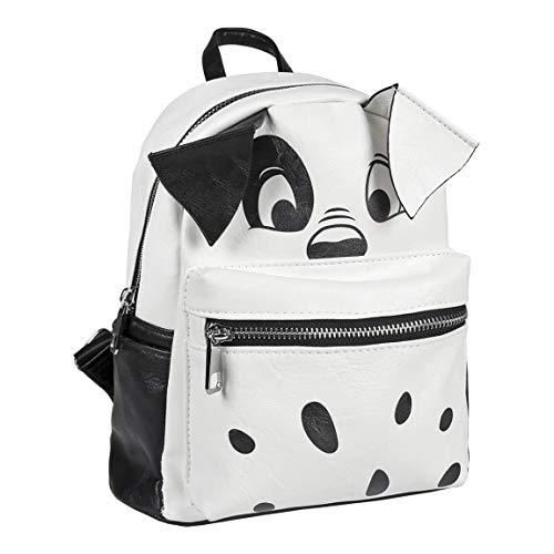 Cerdá Mochila Moda Disney 101 Dalmatas Rucksack, 25 cm, Weiß (blanco)