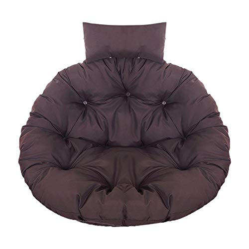 Heirao4072 - Cojín para silla de patio con forma de cesta colgante, resistente a los rayos UV, suave y esponjoso cojín con almohada, para interiores y exteriores, dormitorio, patio o jardín