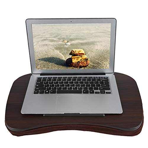 Lap Desk Pillow, Portable Laptop Table Tablet Holder Lap Writing Stand Tray with Cushioned Pillow and Anti-Slip Bar for Bed Sofa Couch