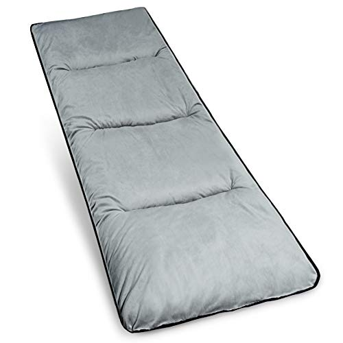 Varbucamp Cot Pad Mattress for Camping, Soft Comfortable Cotton Thicker XL Cot Pads for Adults, Great for Outdoor Indoor Sleeping Cots Beds, Grey