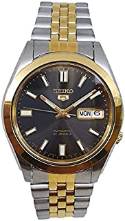 Seiko 5 automatic 21 Jewels Calendar bicolor Stainless steel watch