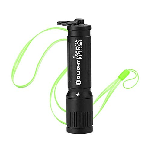 OLIGHT I3E EOS LUXEON TX LED 90 lumens Miniature LED Flashlight Use AAA battery (Black)