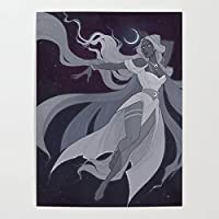 DIYフレーム DIY油絵、 月の女神 によるペイント 大人・子供・初心者用 アクリルペイント 数字による絵画 絵画 キット 大人 子供 アートクラフト 自宅 壁 装飾 40x50cm