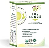 ACPJ LuvLungs Organic Green Tea for Smokers Lungs Cleanse and Air Pollution Detox + Immunity Booster. 1 Pack of 20 Sachets. Natural and Handmade.