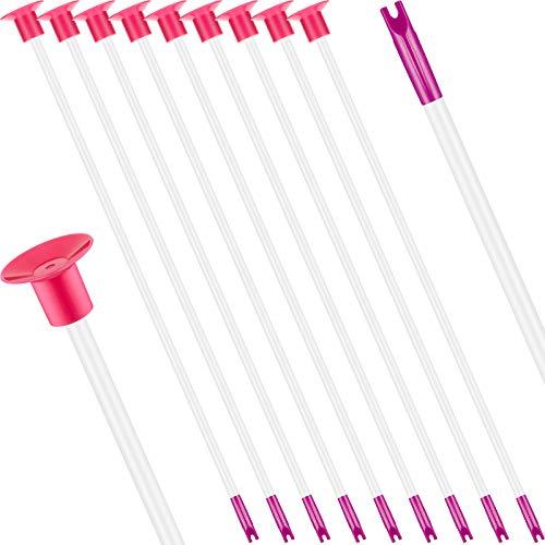 10 Piezas Juguetes de Flechas de Repuesto con Ventosa Flechas de Reemplazo de Tiro con Arco con Punta de Goma para Niños Niñas Flechas de Arco para Interiores Exteriores (Morado y Blanco)