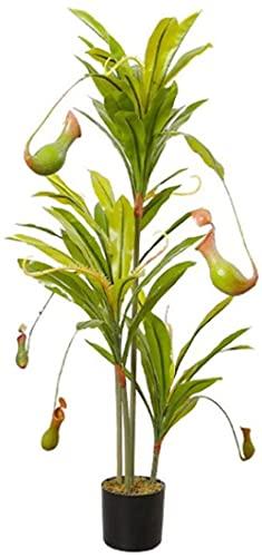 PFTHDE Árbol Artificial Nepenthes, Planta de simulación en Maceta pequeña, Accesorios de fotografía, decoración del hogar, árbol Falso, Plantas Artificiales