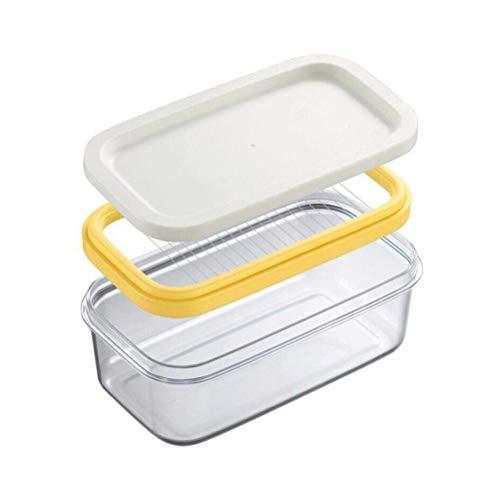 Mankoo Vassoio per Burro, Vassoio di Formaggio al Burro Fresco E Trasparente con Rete da Taglio (17 * 10 * 7 Cm)