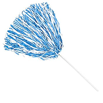 Anderson s Spirit Shaker Stick Pompoms - Light Blue and White Package of 10