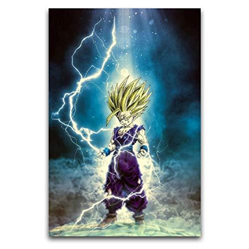 WPQL Póster de animación de Dragon Ball Son Gohan, lienzo de 30 x 45 cm