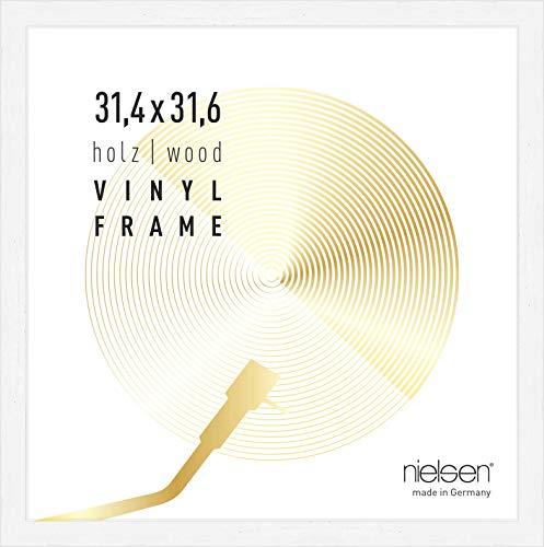 Nielsen Bilderrahmen Vinyl, 31,4x31,6 cm, Deckend Weiß