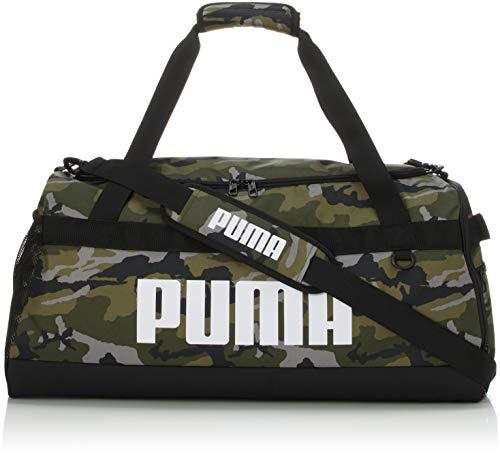 PUMA Challenger Duffel Bag M Sporttasche, Forest Night-Camo AOP, OSFA