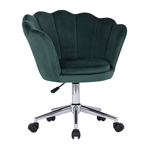 Lifetech Velvet Office Chair for Home Computer Chairs Ergonomic for Home Working Office Room Reception(Green)
