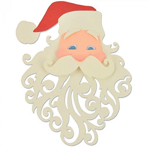 Sizzix 661299 Fustella Babbo Natale di Pete Hughes, Acciaio al Carbonio, Grigio, 23.3 x 12.5 x 0.2 cm
