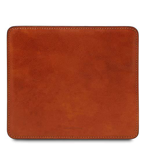Tuscany Leather Tapis de Souris en Cuir Miel