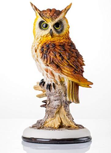 HOMERRY - Figura Decorativa de búho en Rama de 12 Pulgadas de Alto, Estatua Decorativa de Resina para hogar y jardín