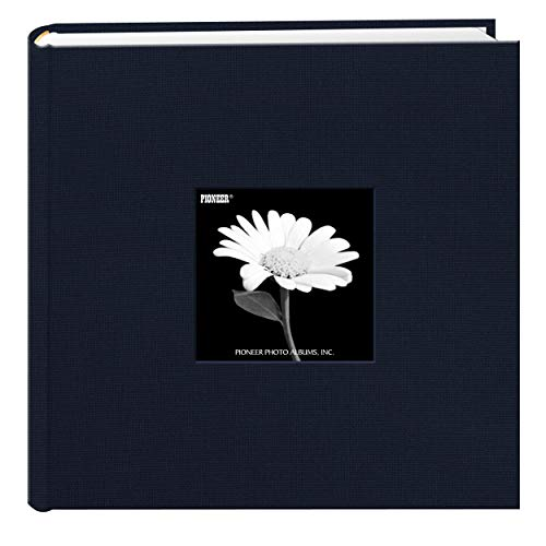 Fabric Frame Cover Photo Album 200 Pockets Hold 4x6 Photos, Royal Navy Michigan