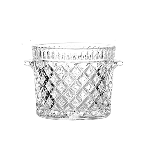 Portaghiaccio Cubetti Benna di ghiaccio di vetro di cristallo con clip portatile secchio di ghiaccio bucket bucket champagne secchio bevande bevande secchio partito attività e stoviglie da campeggio P