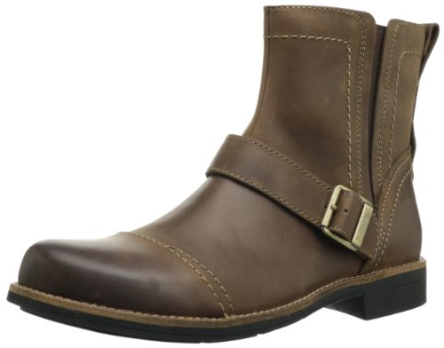 Hot Sale Clarks Men's Meldon Strap Boot,Brown Leather,9 M US