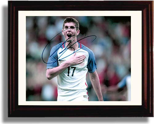 Framed Christian Pulisic - USA Soccer - Autograph Replica Print