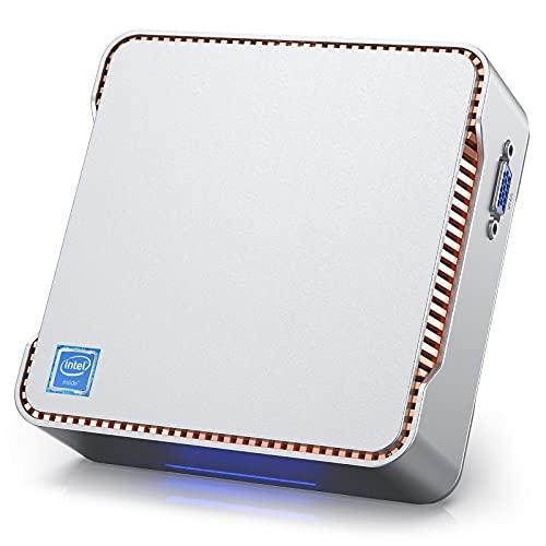 Mini-PC, 8 GB RAM 120 GB ROM Windows 10 Pro Mini-Computer Intel Gemini Lake J4125-Prozessor (bis zu 2,7 GHz) Desktop-Computer, 4K @ 60fps, Dual Wi-Fi, Gigabit Ethernet, Bluetooth 4,2