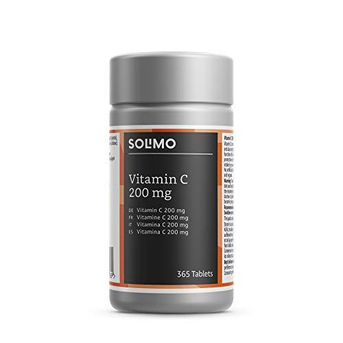 Solimo Nahrungsergänzungsmittel mit Vitamin C 200 mg, 365 Tabletten