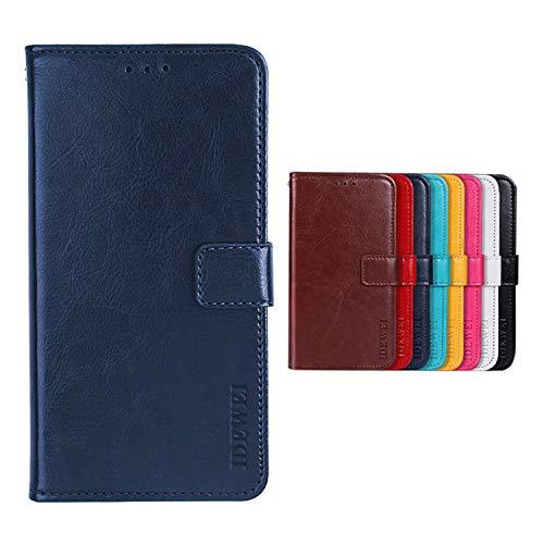 SHIEID Hülle für TP-LINK Neffos C5 Plus Hülle Brieftasche Handyhülle Tasche Leder Flip Hülle Brieftasche Etui Schutzhülle für TP-LINK Neffos C5 Plus(Dunkelblau)