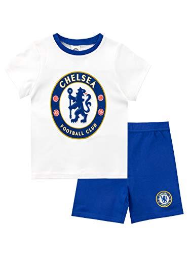 Chelsea F.C. Pigiama a Maniche Corta per Ragazzi Football Club Blu 18-23 Anni
