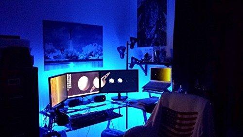 "Lifetime Warranty LED Light KIT for ""your"" Gaming DESK / Gamer Desk / Computer Desk - 8ft KIT - #1 BEST Christmas GIFT for people who play VIDEO GAMES - color select"